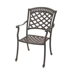 Darlee Sedona Patio Dining Chair with Sesame Seat Cushion (Set of 4)