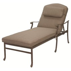 Darlee Sedona Patio Chaise Lounge with Sesame Cushion and Pillow