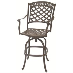 Darlee Sedona Swivel Patio Bar Stool with Cushion (Set of 2)