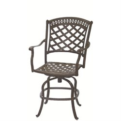 Darlee Sedona Swivel Patio Counter Stool with Cushion (Set of 2)