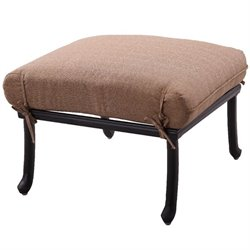Darlee Sedona Patio Ottoman with Sesame Cushion (Set of 2)