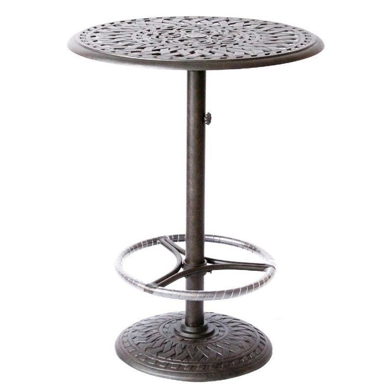 Darlee 30 Quot Round Patio Pedestal Bar Table 201060 Bj X