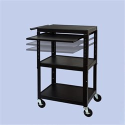 FSC Adjustable Cart With Front/Back Pull Out Shelf