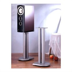 Speaker Stands Pair in Grey Silver