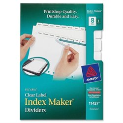 Avery Index Maker 7-Hole Clear Label Dividers