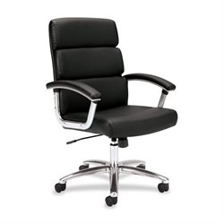 Basyx Executive Leather Adj Height Work Chair