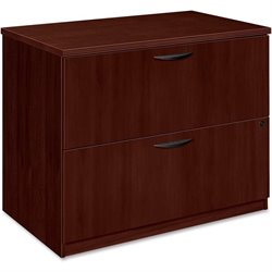 Basyx BW Mahogany Veneer 2-drawer Lateral File