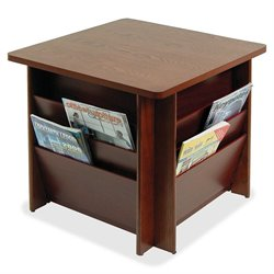 Buddy Solid Wood 3-in-1 Literature Rack Table