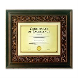 Burns Grp. Tuscan Bronze Matted Document Frame