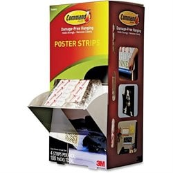 3M Command Small Poster Strips Pack
