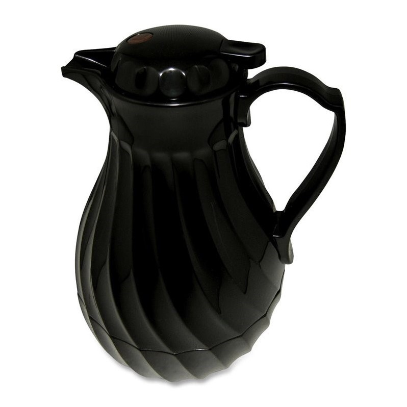 Hormel Black Swirl Insulated Plastic Carafe