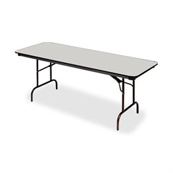 Iceberg Premium Wood Gray Laminate Folding Tables