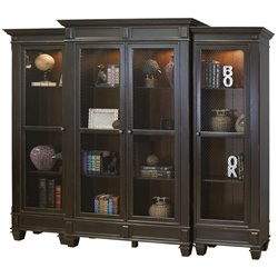 Martin Furniture Hartford Bookcase in Two Tone Black