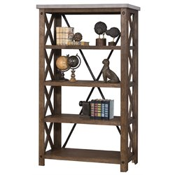 Martin Furniture Paxton Spur 4 Shelf Bookcase in Rustic Sienna