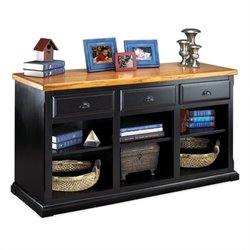 Kathy Ireland Home by Martin Southampton 3 Drawer Console in Distressed Onyx