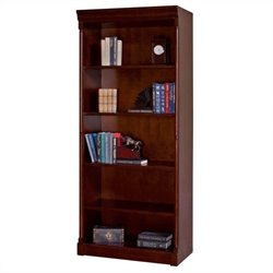 Kathy Ireland Home by Martin Mount View Open Wood Bookcase in Cherry