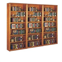 Martin Furniture Contemporary 3 Piece Bookcase Set in Medium Oak