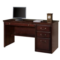 Kathy Ireland Home Club Computer Desk in Vibrant Cherry