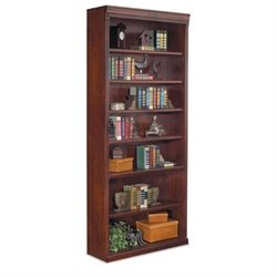 Kathy Ireland Home by Martin Huntington Club 7 Shelf Bookcase in Vibrant Cherry