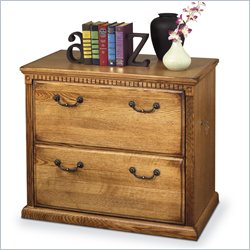 Kathy Ireland Home by Martin Huntington Oxford Lateral 2 Drawer Wood File Storage Cabinet in Wheat