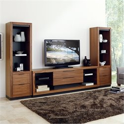 Martin Furniture Stratus Television Entertainment Console Set in Walnut