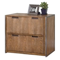 Martin Furniture Belmont Lateral Filing Cabinet in Brushed Ash