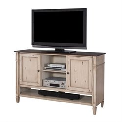 Martin Furniture Baldwin Deluxe TV Console in Antique Powder White