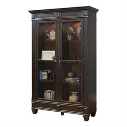 Martin Furniture Hartford Wire Mesh Bookcase in Black