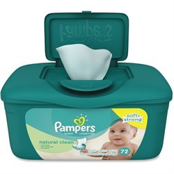 Procter & Gamble Pampers Natural Clean Wipes Tub