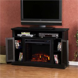 Antebellum Electric Fireplace TV Stand in Black