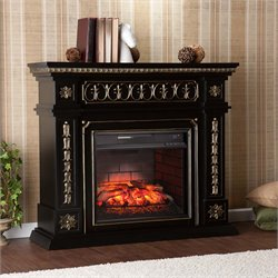 Donovan Electric Fireplace in Black