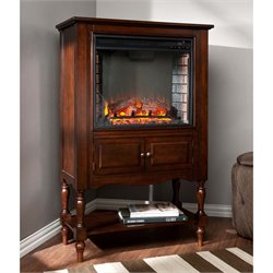 Providence Electric Fireplace Tower in Mahogany