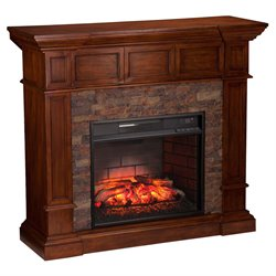 Merrimack Corner Electric Fireplace in Oak