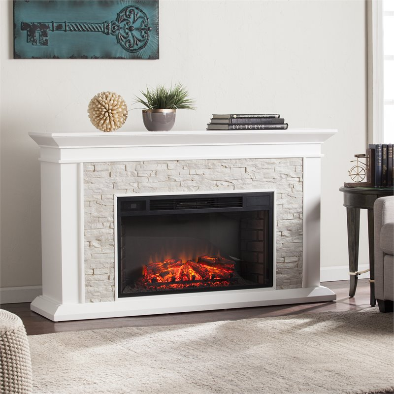 Southern Enterprises Canyon Heights Faux Stone Electric Fireplace Fe9021