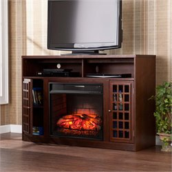 Narita Electric Fireplace TV Stand in Espresso