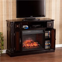 Marianna Electric Fireplace TV Stand in Ebony