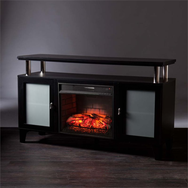 Southern Enterprises Cabrini Infrared Electric Fireplace Tv Stand Fi9348