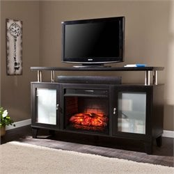 Cabrini Electric Fireplace TV Stand in Black