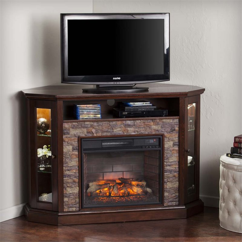 Southern Enterprises Redden Corner Electric Fireplace Tv