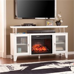 Cabrini Electric Fireplace TV Stand in White