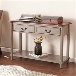 Southern Enterprises Devonshire Console Table in Warm Gray and Brown
