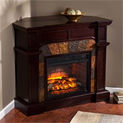 Cartwright Corner Electric Fireplace in Espresso