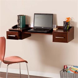 Southern Enterprises Bingham Wall Mount Desk in Espresso