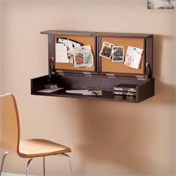 Southern Enterprises Lexford Wall Mount Desk in Espresso
