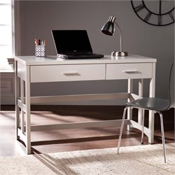 Southern Enterprises Eldridge Craftsman Computer Desk in Gray