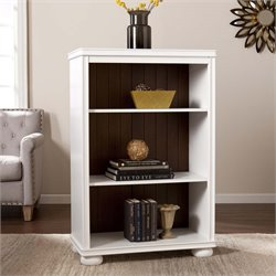 Southern Enterprises Lowden 3 Shelf Bookcase in White and Maple