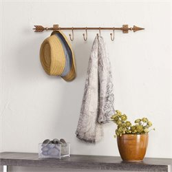 Southern Enterprises Wall Mount Coat Rack Arrow w Hooks