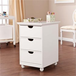 Southern Enterprises Anna Griffin 3 Drawer File Cabinet in White