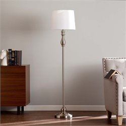 Southern Enterprises Chayton Floor Lamp in Satin Steel