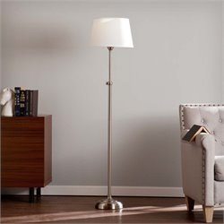 Southern Enterprises Dacey Floor Lamp in Satin Steel